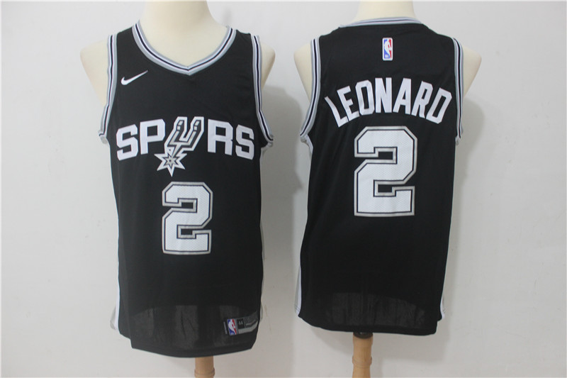 Spurs 2 Kawhi Leonard Black Nike Swingman Jersey