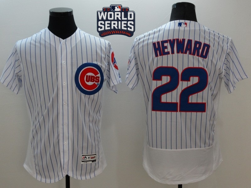 Cubs 22 Jason Heyward White 2016 World Series Flexbase Jersey