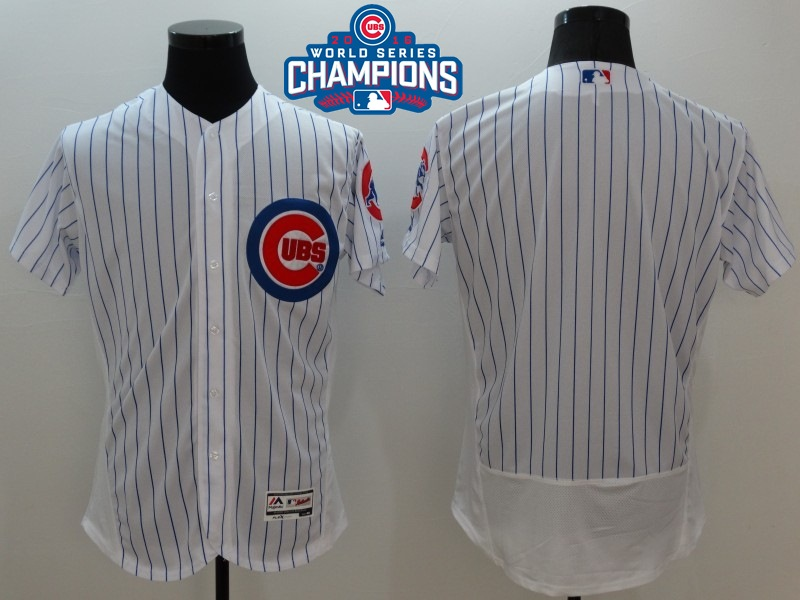 Cubs Blank White 2016 World Series Champions Flexbase Jersey