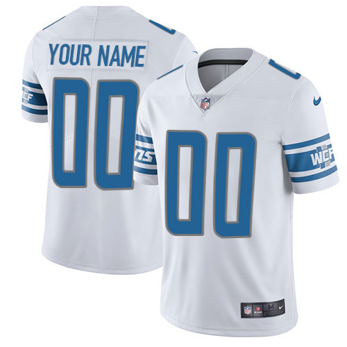 Nike Lions White Men's Customized Vapor Untouchable Player Limited Jersey