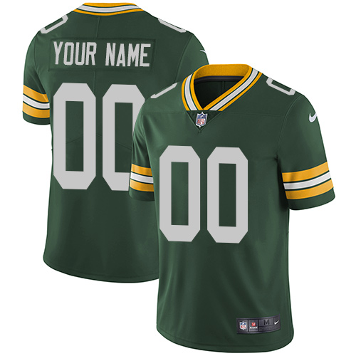 Nike Packers Green Men's Customized Vapor Untouchable Player Limited Jersey