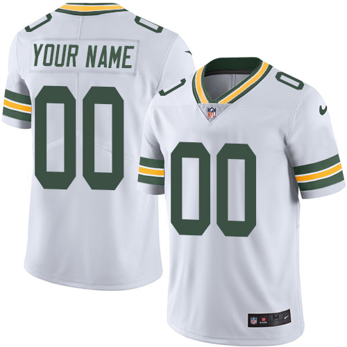 Nike Packers White Men's Customized Vapor Untouchable Player Limited Jersey