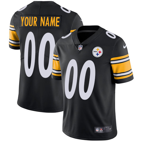 Nike Steelers Black Men's Customized Vapor Untouchable Player Limited Jersey