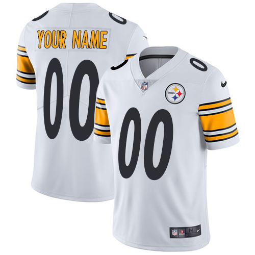 Nike Steelers White Men's Customized Vapor Untouchable Player Limited Jersey