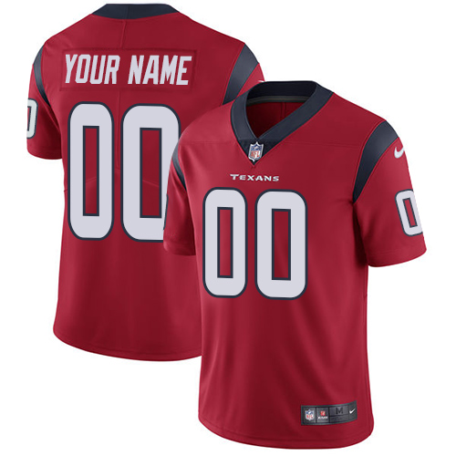 Nike Texans Red Men's Customized Vapor Untouchable Player Limited Jersey