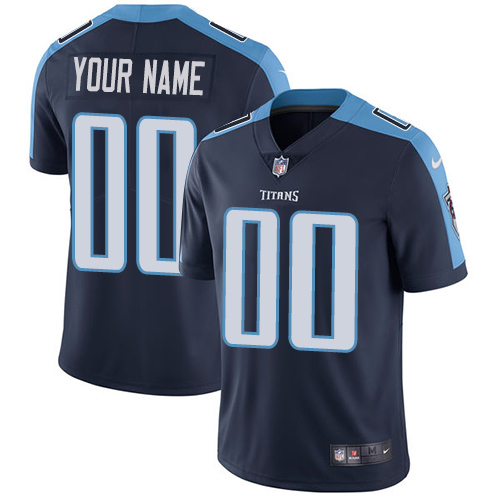 Nike Titans Navy Men's Customized Vapor Untouchable Player Limited Jersey