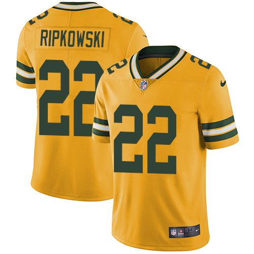 Nike Packers 22 Aaron Ripkowski Yellow Vapor Untouchable Player Limited Jersey