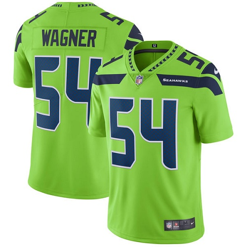 Nike Seahawks 54 Bobby Wagner Green Vapor Untouchable Player Limited Jersey
