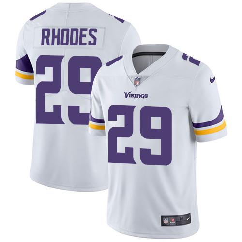 Nike Vikings 29 Xavier Rhodes White Vapor Untouchable Player Limited Jersey