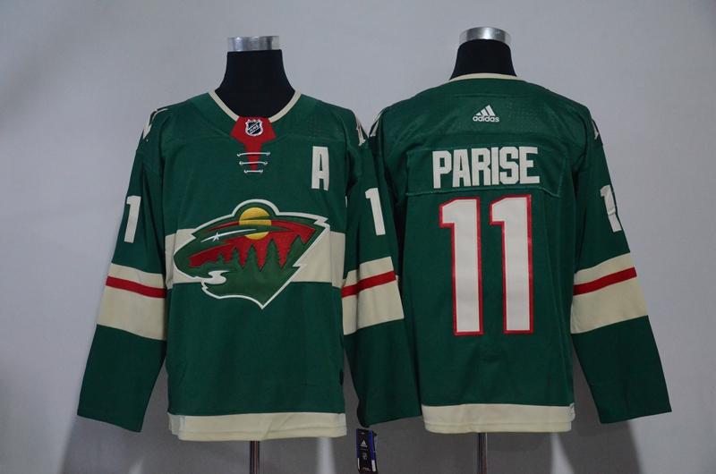 Wild 11 Zach Parise Green Adidas Jersey