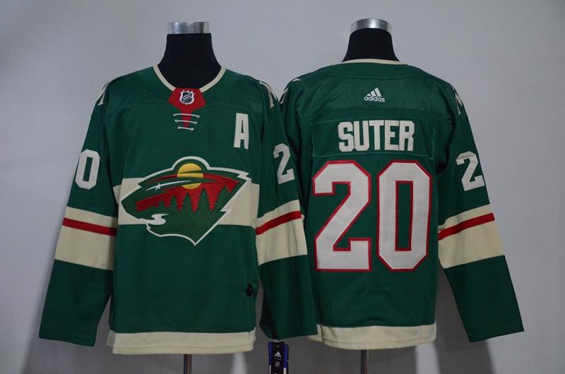 Wild 20 Ryan Suter Green Adidas Jersey