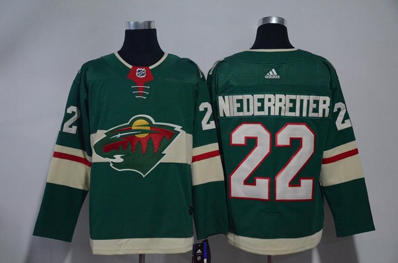 Wild 22 Nino Niederreiter Green Adidas Jersey
