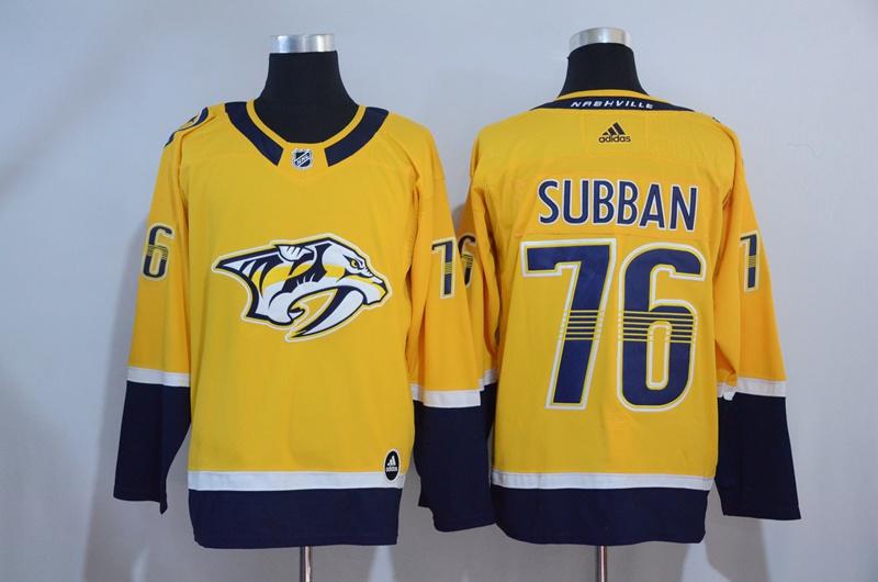 Predators 76 P.K. Subban Gold Adidas Jersey