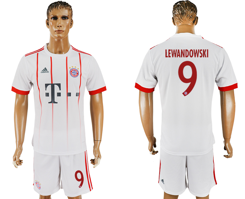 2017-18 Bayern Munich 9 LEWANDOWSKI UEFA Champions League Away Soccer Jersey