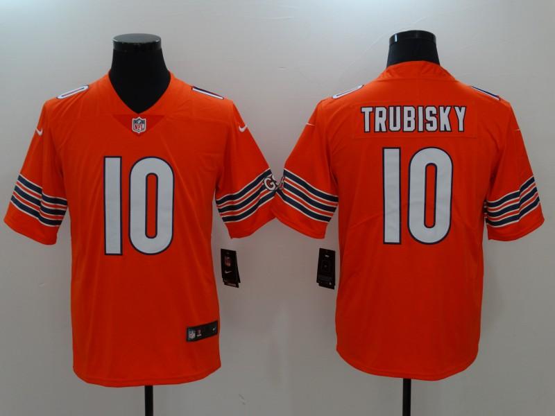 Nike Bears 10 Mitchell Trubisky Orange Vapor Untouchable Player Limited Jersey