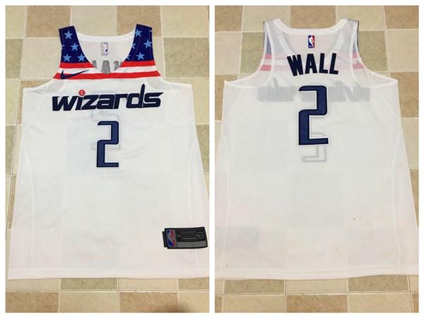Wizards 2 John Wall White Nike Swingman Jersey