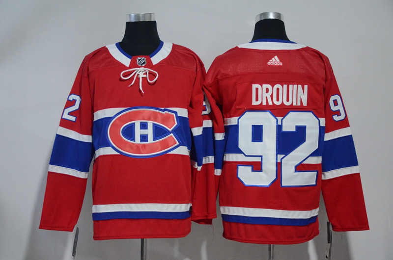 Canadiens 92 Jonathan Drouin Red Adidas Jersey