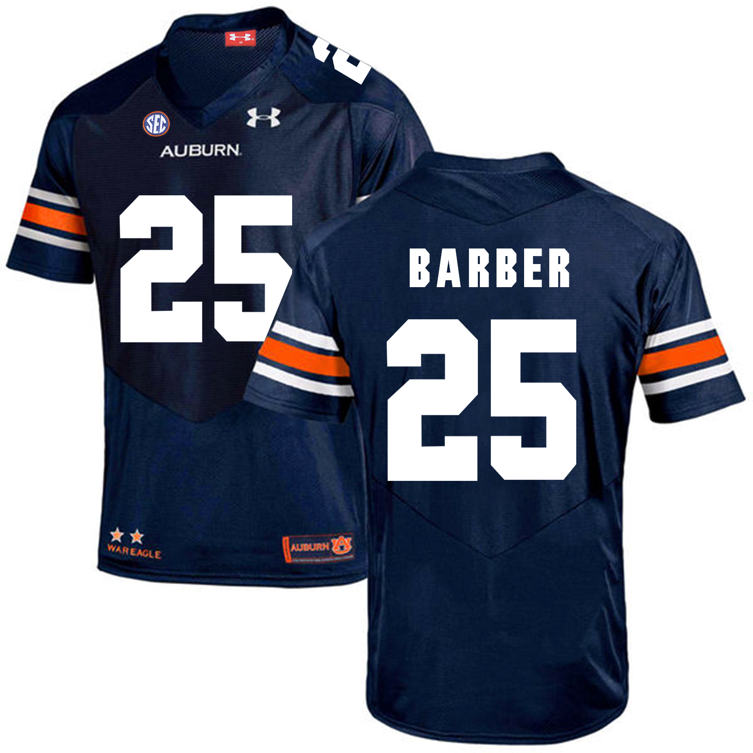 Auburn Tigers 25 Peyton Barber Navy College Football Jersey