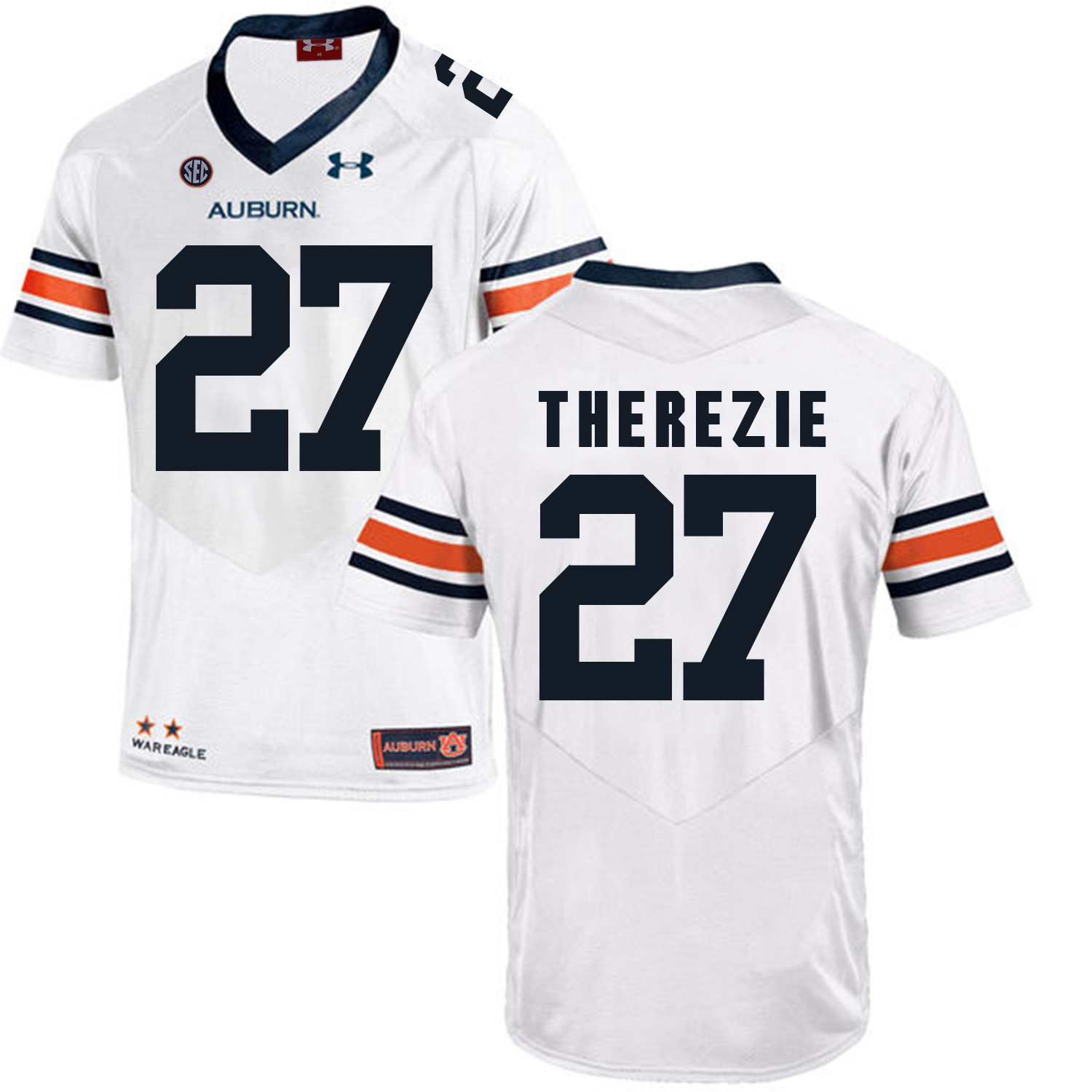 Auburn Tigers 27 Robenson Therezie White College Football Jersey