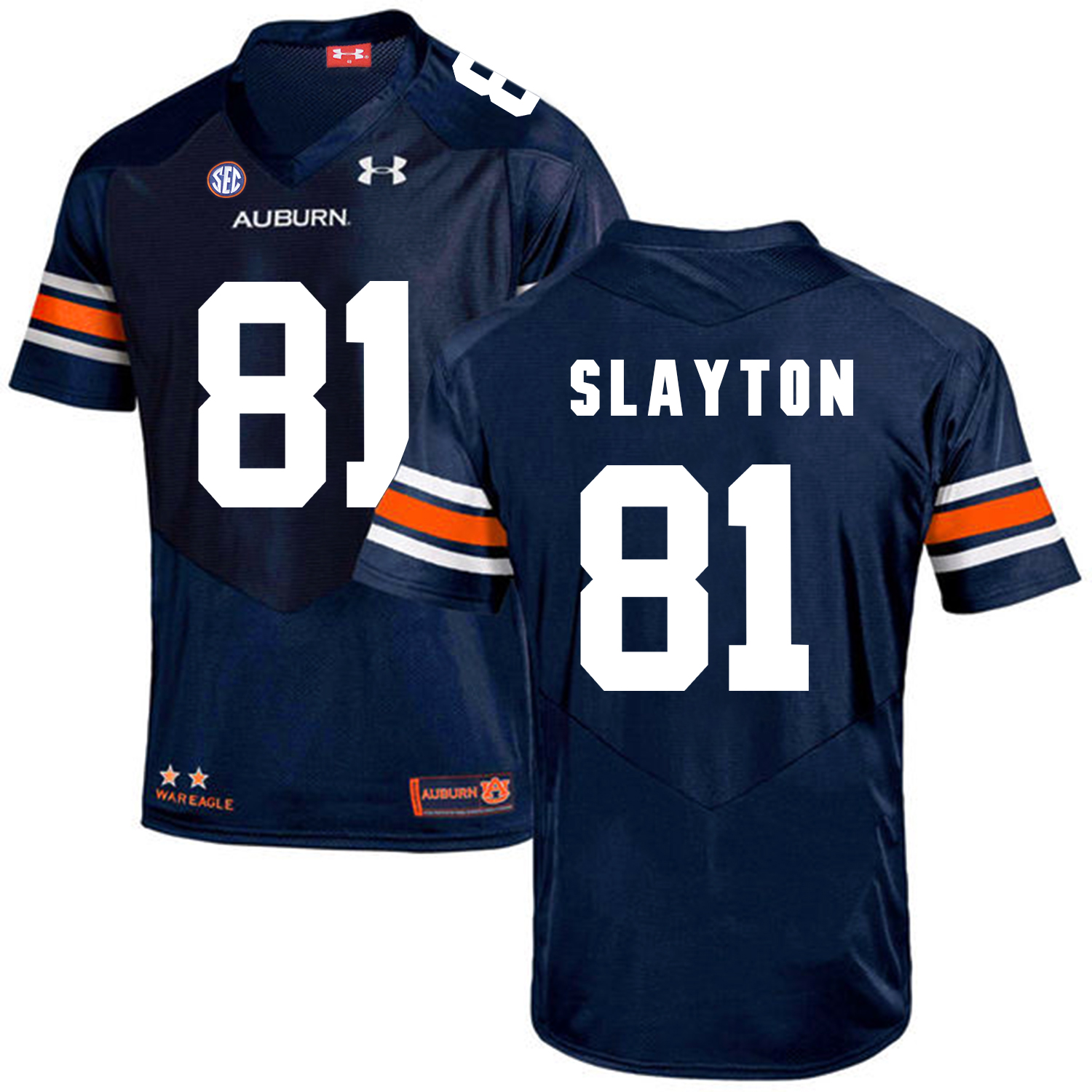 Auburn Tigers 81 Darius Slayton Navy College Football Jersey