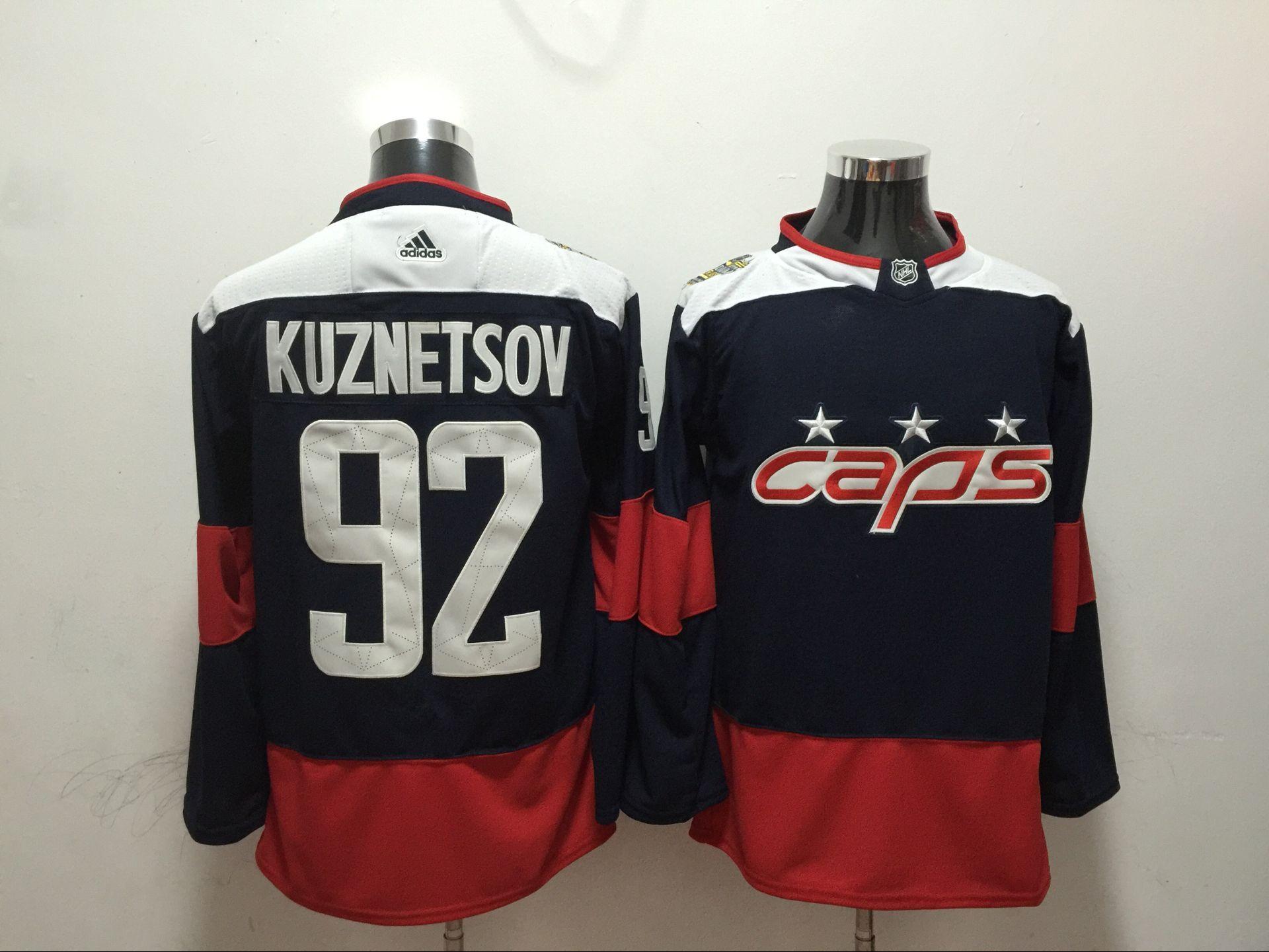 Capitals 92 Evgeny Kuznetsov Navy 2018 NHL Stadium Series Adidas Jersey