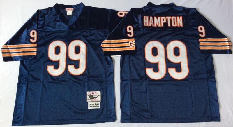 Bears 99 Dan Hampton Navy M&N 1985 Throwback Jersey