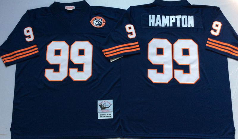 Bears 99 Dan Hampton Navy M&N Throwback Jersey