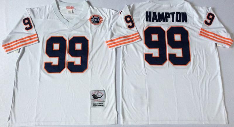 Bears 99 Dan Hampton White M&N Throwback Jersey