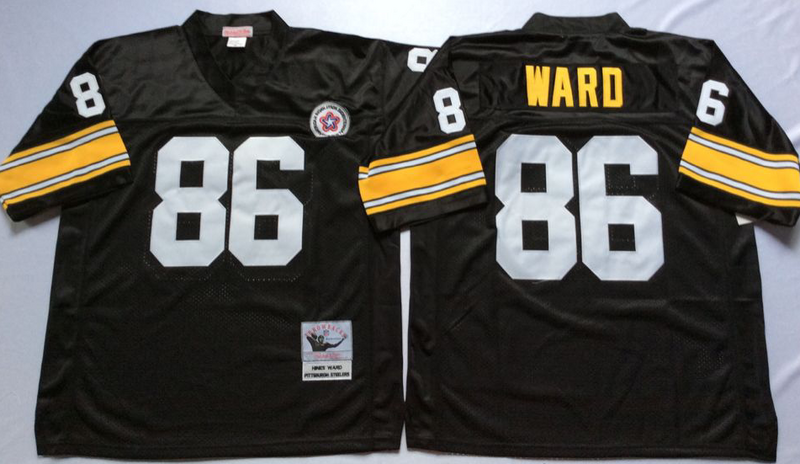 Steelers 86 Hines Ward Black M&N Throwback Jersey