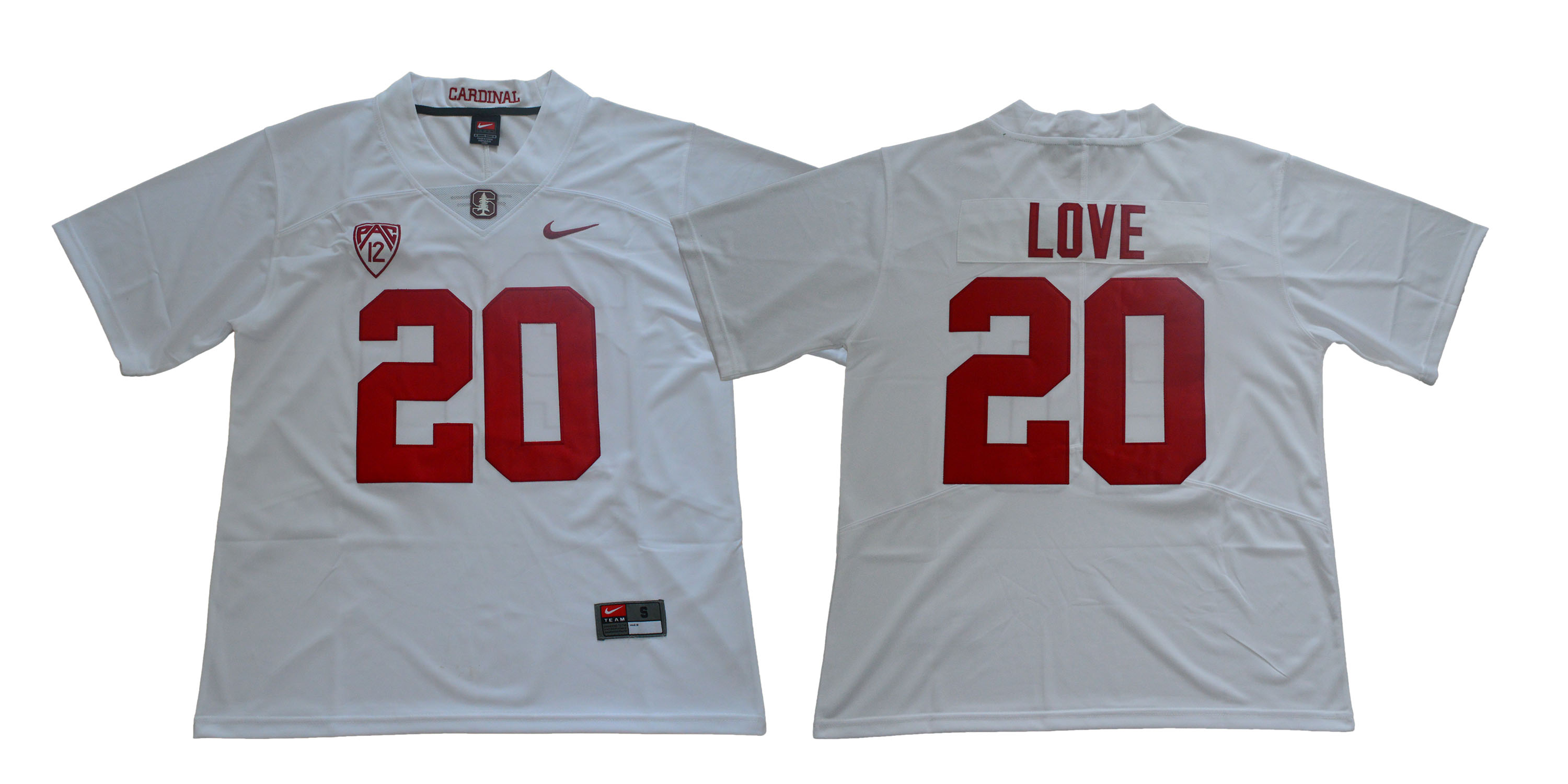 Stanford Cardinal 20 Bryce Love White Nike College Football Jersey