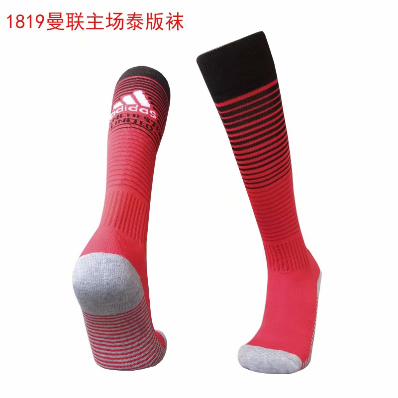 2018-19 Manchester United Home Soccer Socks