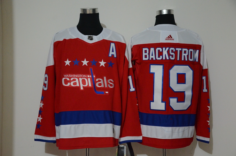 Capitals 19 Nicklas Backstrom Red Alternate Adidas Jersey