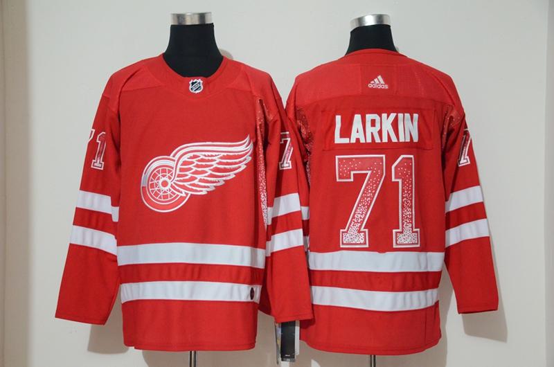 Red Wings 71 Dylan Larkin Red Drift Fashion Adidas Jersey