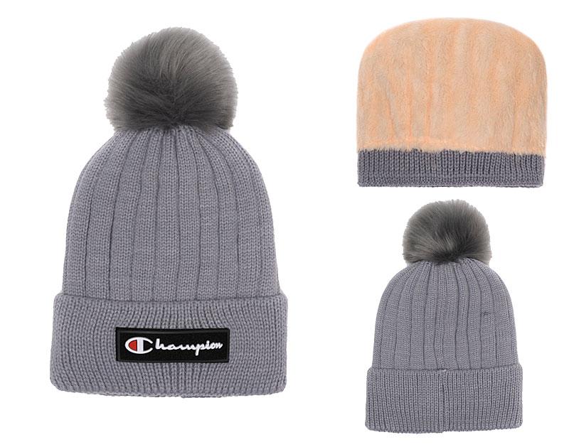 Champion Fresh Logo Gray Fashion Knit Hat SG