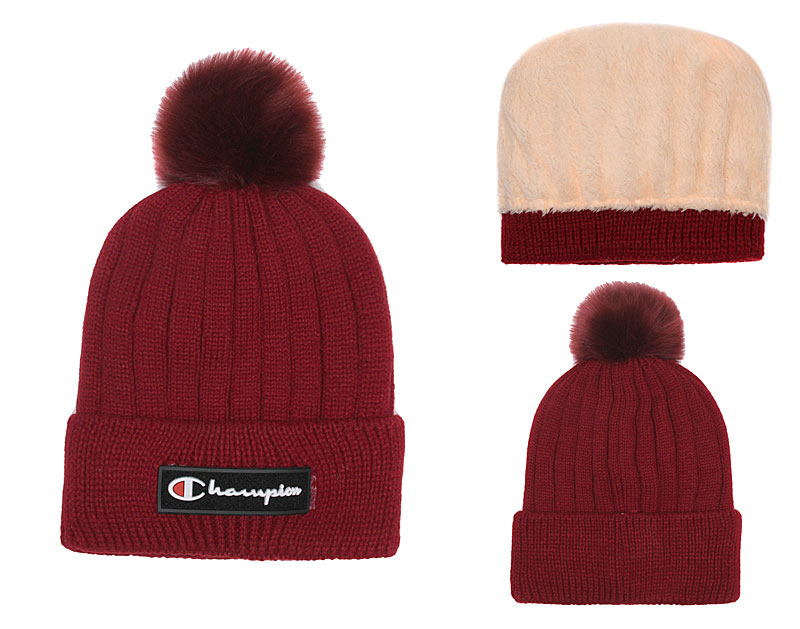 Champion Fresh Logo Red Fashion Knit Hat SG