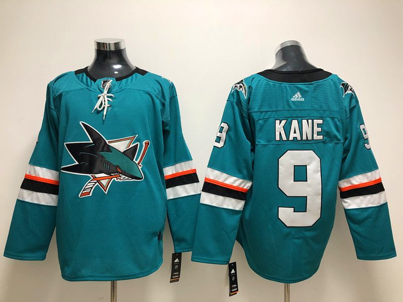 Sharks 9 Evander Kane Teal Adidas Jersey