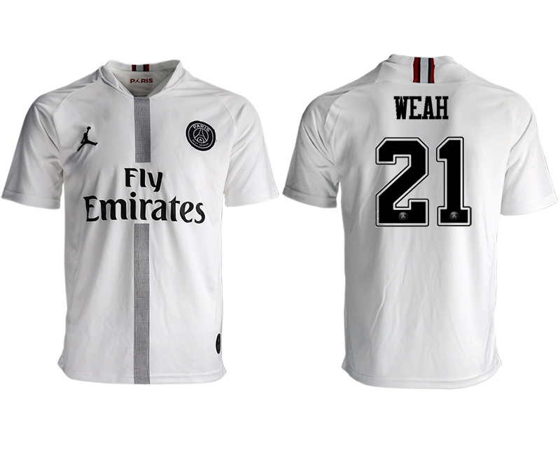2018-19 Paris Saint-Germain 21 WEAH Away Thailand Soccer Jersey