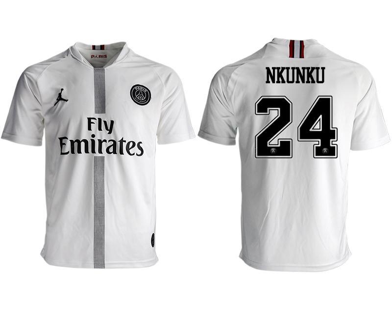 2018-19 Paris Saint-Germain 24 NKUNKU Away Thailand Soccer Jersey