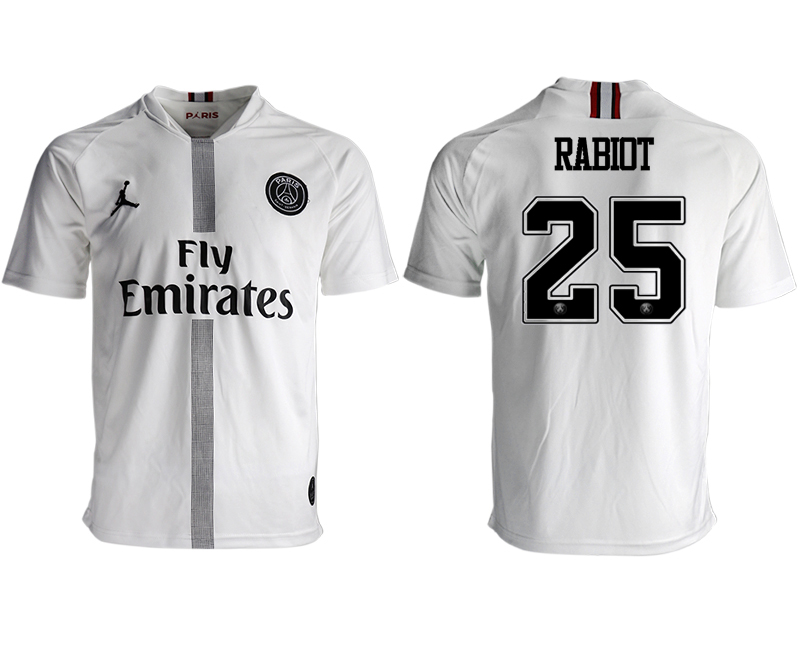2018-19 Paris Saint-Germain 25 RABIOT Away Thailand Soccer Jersey