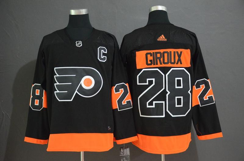Flyers 28 Claude Giroux Black Alternate Adidas Jersey