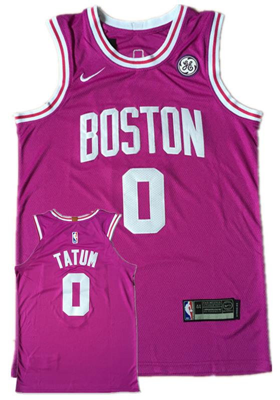 Celtics 0 Jayson Tatum Purple Nike Authentic Jersey