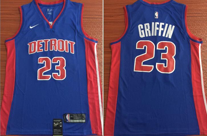 Pistons 23 Blake Griffin Blue Nike Swingman Jersey