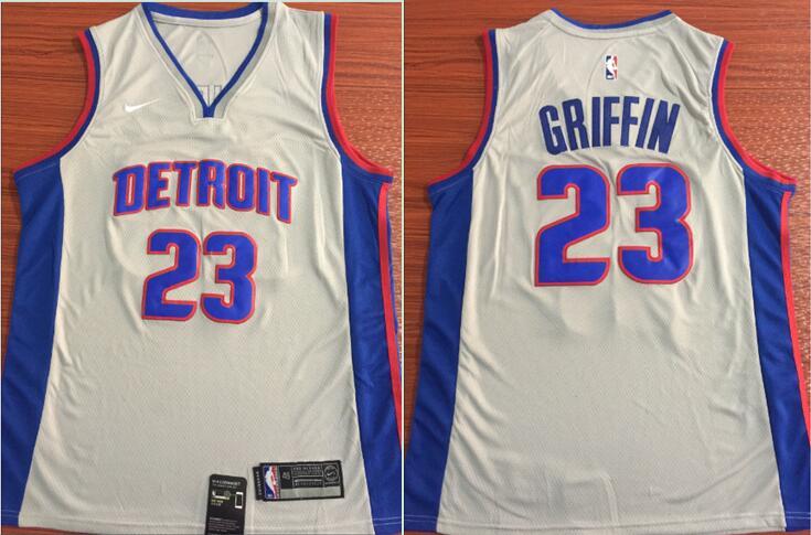 Pistons 23 Blake Griffin Gray Nike Swingman Jersey