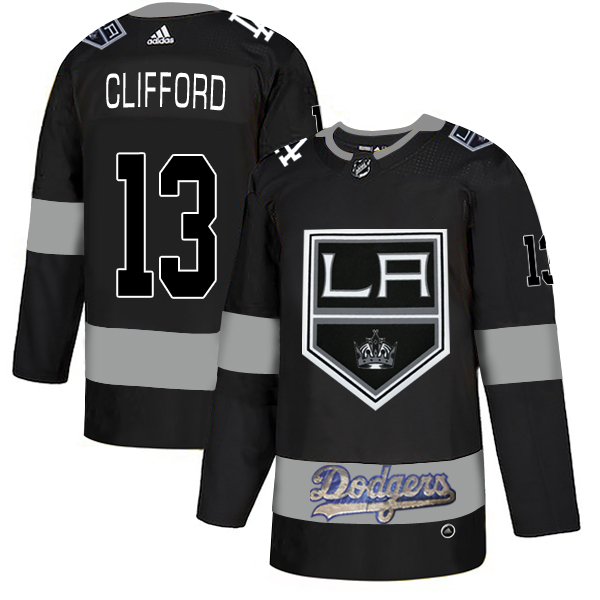 LA Kings With Dodgers 13 Kyle Clifford Black Adidas Jersey