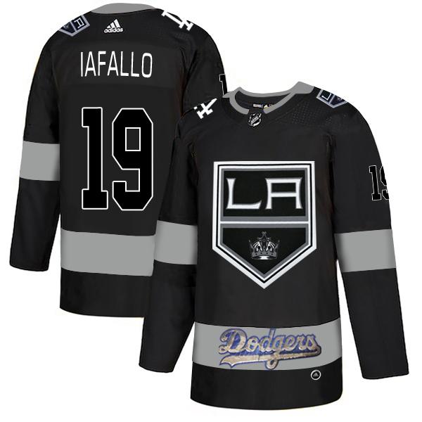 LA Kings With Dodgers 19 Alex Iafallo Black Adidas Jersey