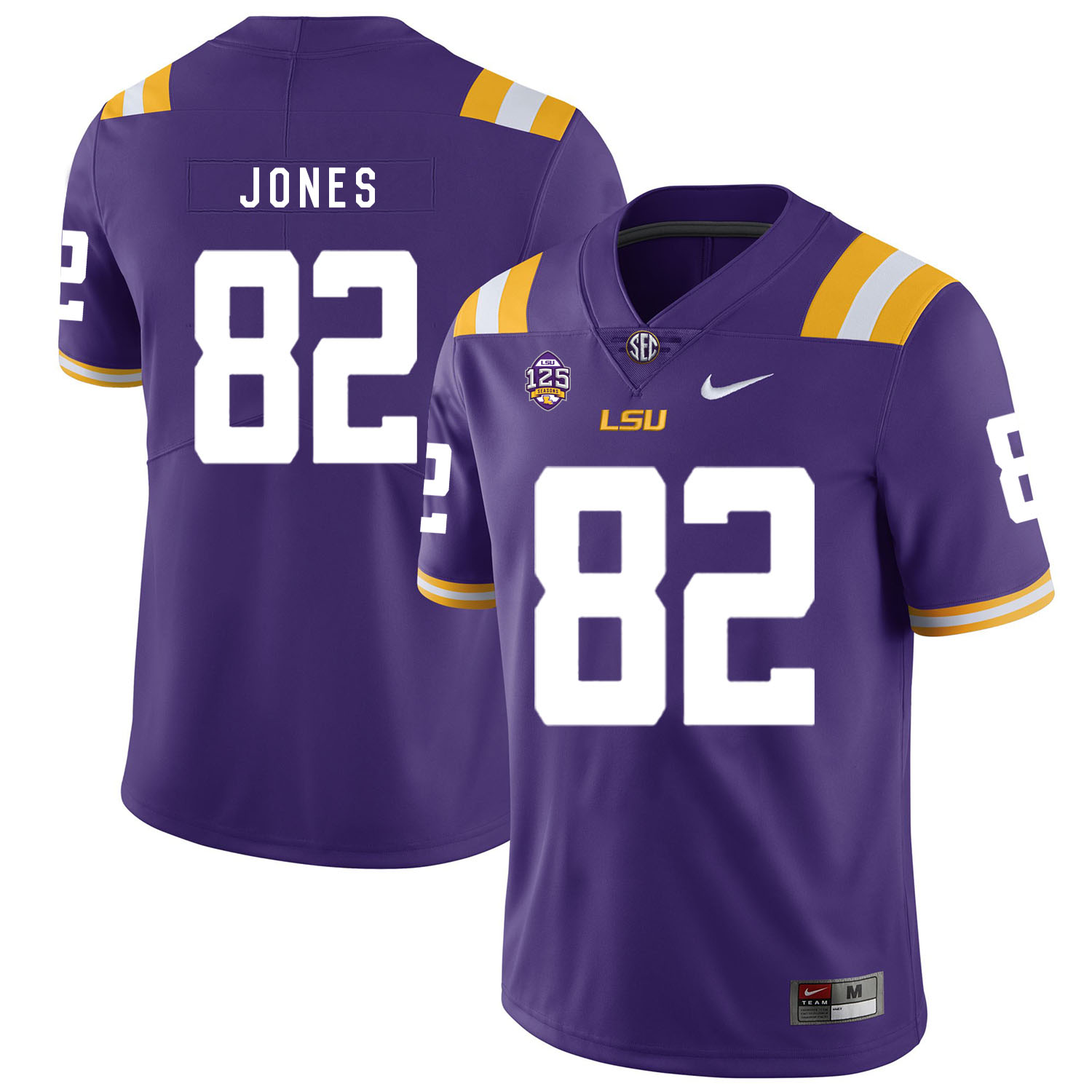 LSU Tigers 82 Kenan Jones Purple Nike College Football Jersey