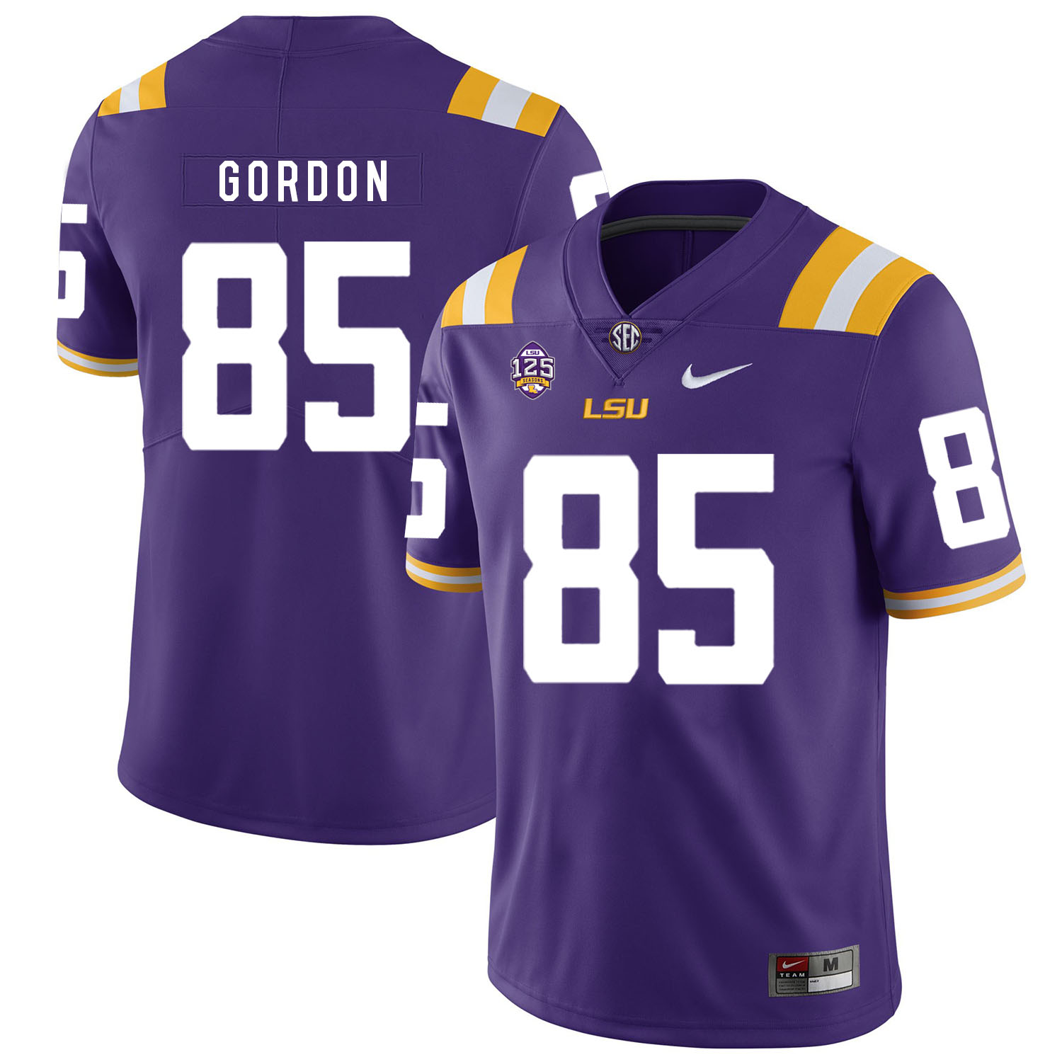 LSU Tigers 85 Dillon Gordon Purple Nike College Football Jersey