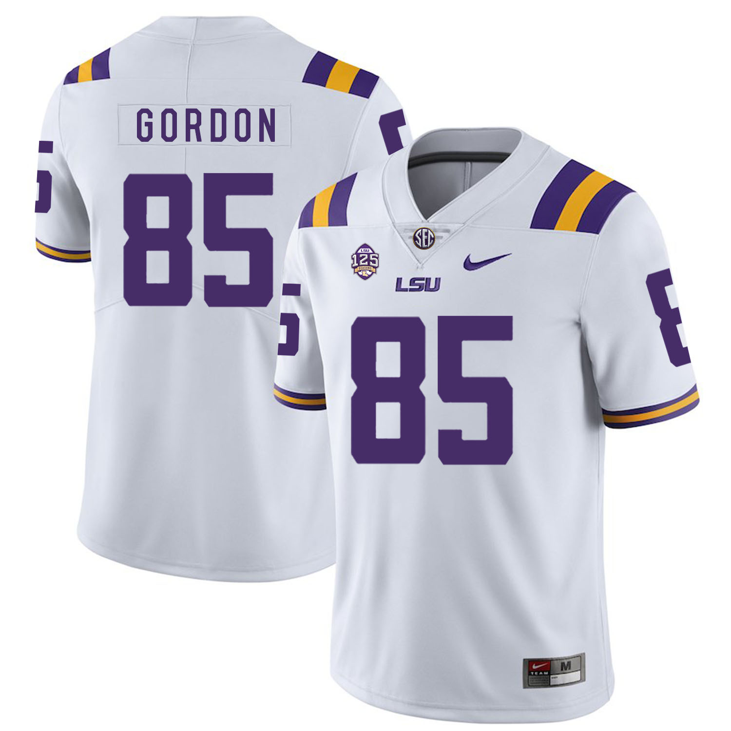 LSU Tigers 85 Dillon Gordon White Nike College Football Jersey