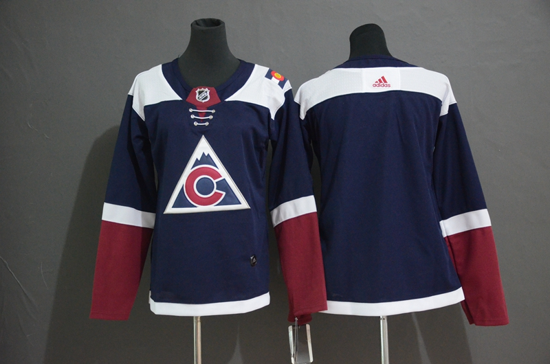 Avalanche Blank Navy Youth Alternate Adidas Jersey