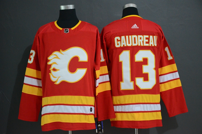 Flames 13 Johnny Gaudreau Red Alternate Adidas Jersey